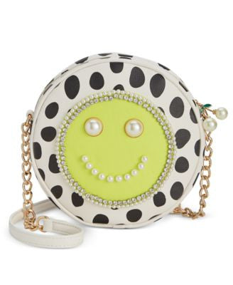 Betsey Johnson Smiley Imitation Pearl Canteen Crossbody