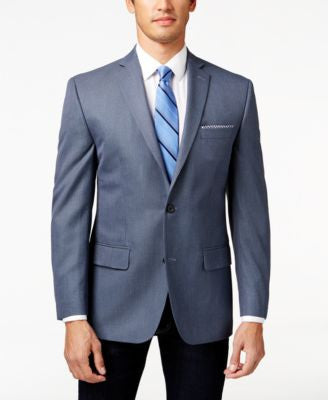 MICHAEL Michael Kors Men's Blue Neat Classic-Fit Sport Coat
