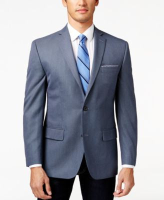 MICHAEL Michael Kors Blue Neat Big and Tall Classic-Fit Sport Coat