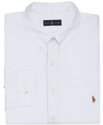 Polo Ralph Lauren Men's Big and Tall White Dress Shirt