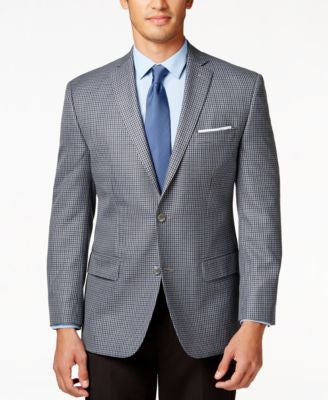 MICHAEL Michael Kors Grey Multi Check Big and Tall Classic-Fit Sport Coat