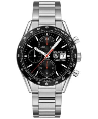 TAG Heuer Men's Swiss Automatic Chronograph Carrera Stainless Steel Bracelet Watch 41mm CV201AK.BA07