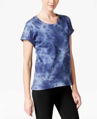 Style & Co. Petite Grommet-Shoulder Tie-Dyed Top, Only at Vogily