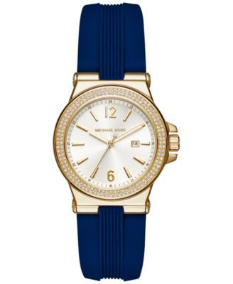 Michael Kors Women's Mini Dylan Sporty Blue Silicone Strap Watch 33mm MK2490