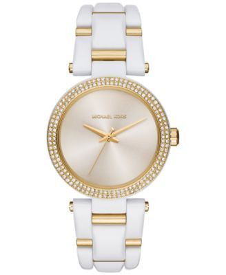 Michael Kors Women's Two-Tone Stainless Steel and Acetate Bracelet Watch 36mm MK4315