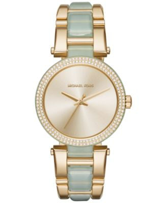 Michael Kors Women's Delray Two-Tone Stainless Steel and Acetate Bracelet Watch 36mm MK4317