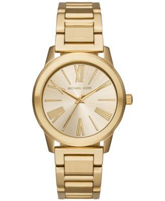 Michael Kors Women's Hartman Gold-Tone Stainless Steel Bracelet Watch 38mm MK3490