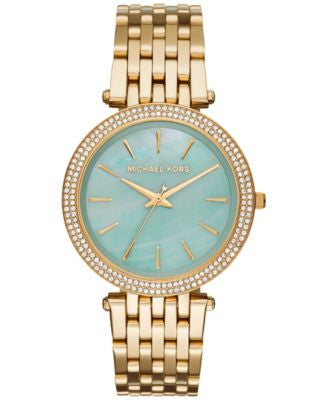 Michael Kors Women's Darci Gold-Tone Stainless Steel Bracelet Watch 39mm MK3498