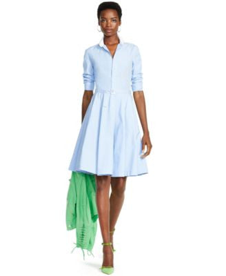 Polo Ralph Lauren Poplin Long-Sleeve Shirtdress
