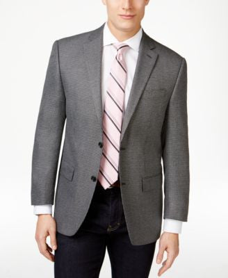 MICHAEL Michael Kors Men's Grey and Black Herringbone Classic-Fit Sport Coat