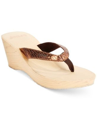 Reef Reefwood II Wedge Thong Sandals