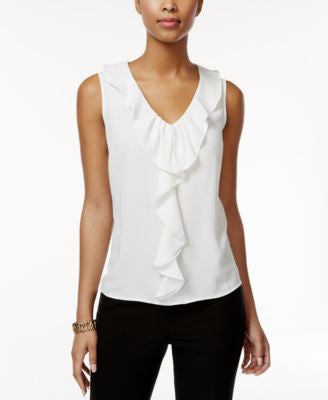 Nine West Ruffle-Trim Sleeveless Blouse