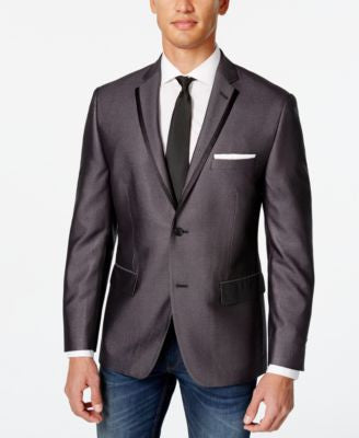 Alfani Men's Charcoal Slim Fit Evening Jacket, Only at Vogily