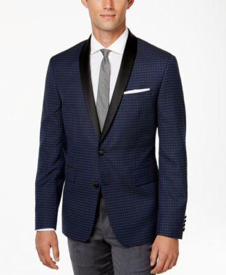 BAR III Men's Jacquard Shawl-Collar Slim-Fit Jacket, Only at Vogily
