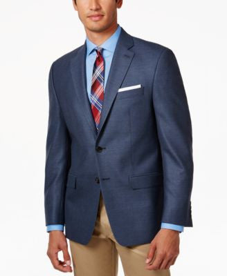 Lauren Ralph Lauren Men's Blue Neat Classic-Fit Sport Coat
