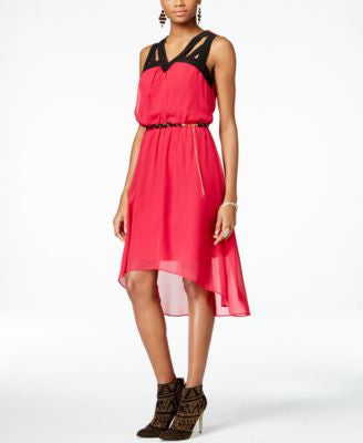 Thalia Sodi Cutout-Neck Chiffon Dress, Only at Vogily