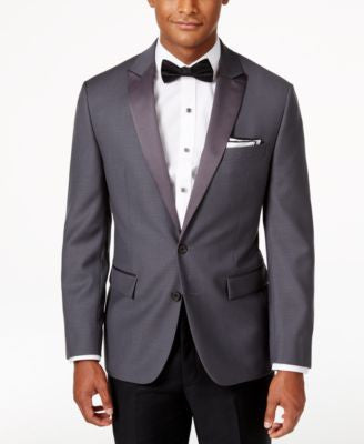 Ryan Seacrest Distinction Men's Slim-Fit Grey Tuxedo Sport Coat, Only at Vogily