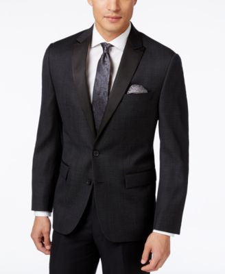 Ryan Seacrest Distinction Men's Black Dot Slim-Fit Sport Coat, Only at Vogily