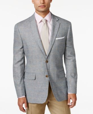 Tasso Elba Men's Windowpane Sport Coat, Only at Vogily