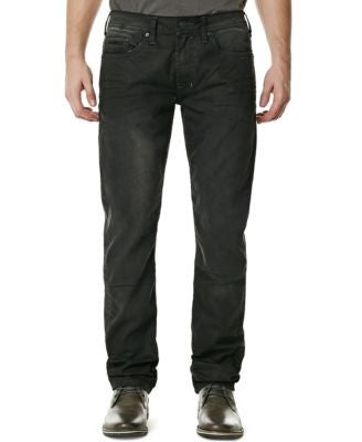 Buffalo David Bitton Men's Stretch Ash-X Super-Skinny-Fit Faded Black Wash Jeans