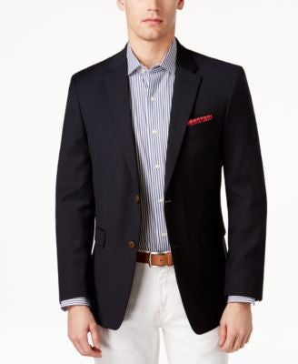 Tommy Hilfiger Classic-Fit Solid Navy Blazer