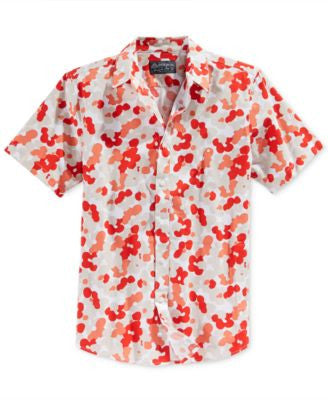 American Rag Men's Artpop Floral-Print Short-Sleeve Shirt, Only at Vogily