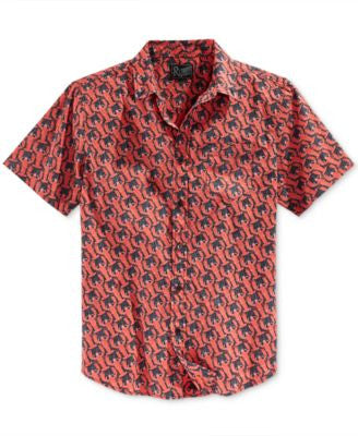 Retrofit Men's Lobsters Graphic-Print Short-Sleeve Shirt