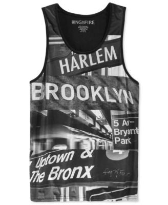 Ring of Fire Men's New York Graphic-Print Tank