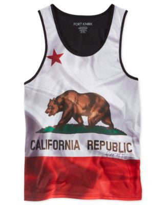 Ring of Fire Men's Cali Flag Sublimated Tank