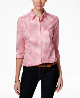 Charter Club Petite Plaid Shirt, Only at Vogily
