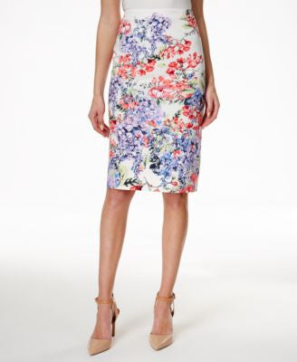 Charter Club Petite Floral-Print Pencil Skirt, Only at Vogily