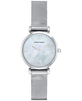 Emporio Armani Women's Gianni T-Bar Stainless Steel Mesh Bracelet Watch 32mm AR1955