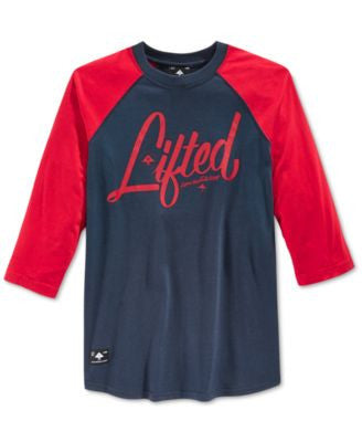 LRG Men's RC Graphic-Print Raglan-Sleeve Logo T-Shirt
