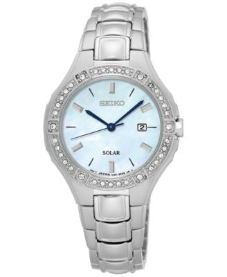 Seiko Women's Solar Sport Stainless Steel Bracelet Watch 29mm SUT281