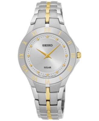 Seiko Women's Solar Recraft Series Two-Tone Stainless Steel Bracelet Watch 30mm SUP308