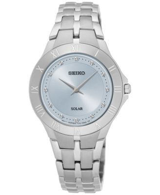 Seiko Women's Solar Recraft Series Stainless Steel Bracelet Watch 30mm SUP307