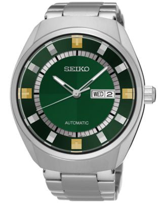 Seiko Men's Automatic Recraft Series Stainless Steel Bracelet Watch 44mm SNKN77