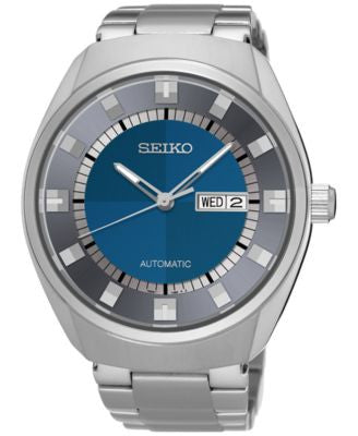 Seiko Men's Automatic Recraft Series Stainless Steel Bracelet Watch 44mm SNKN73