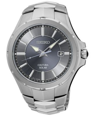 Seiko Men's Solar Coutura Stainless Steel Bracelet Watch 43mm SNE411