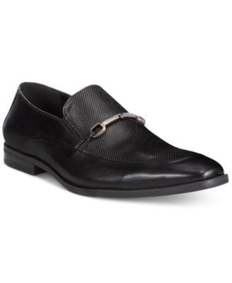 Alfani Men's Nathan Textured Moc Slip-On Shoes, Only at Vogily