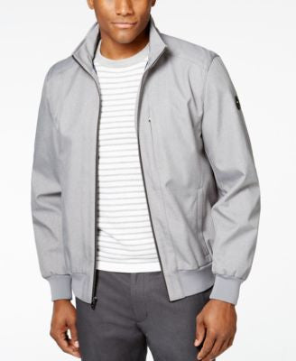 MICHAEL Michael Kors Men's Big & Tall Heather Stand-Collar Bomber Jacket