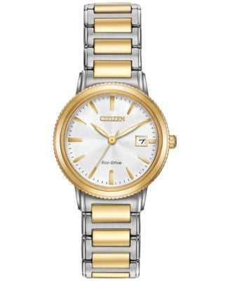 Citizen Women's Eco-Drive Two-Tone Stainless Steel Bracelet Watch 27mm EW2374-56A