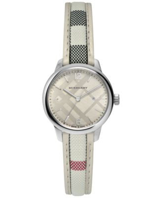 Burberry Women's Swiss The Classic Round Multi-Color Fabric Strap Timepiece 32mm BU10113