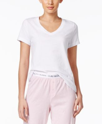 Lauren Ralph Lauren Short-Sleeve Logo Pajama Top
