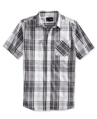 Hurley Men's Dri-Fit Carson Plaid Short-Sleeve Shirt