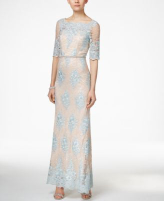 Tahari ASL Embellished Lace Dress