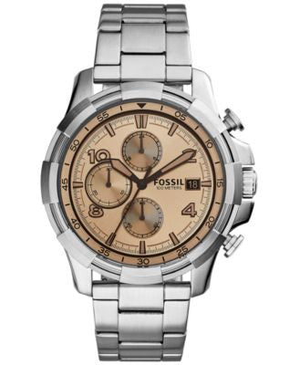 Fossil Men's Chronograph Dean Stainless Steel Bracelet Watch 45mm FS5163