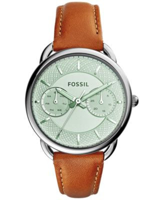 Fossil Women's Tailor Tan Leather Strap Watch 34mm ES3977