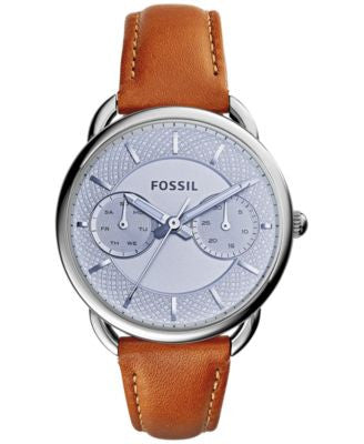 Fossil Women's Tailor Tan Leather Strap Watch 34mm ES3976