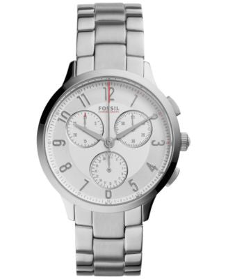 Fossil Women's Chronograph Abilene Stainless Steel Bracelet Watch 34mm CH3017